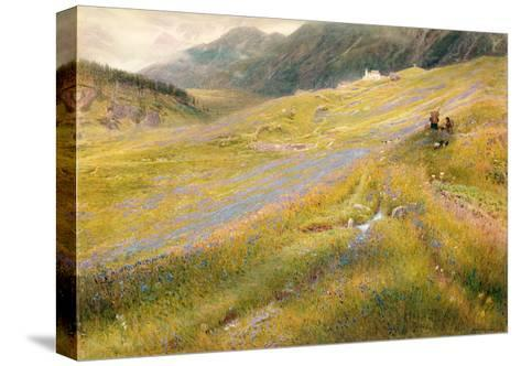 The Alpine Summer, 1874-Albert Goodwin-Stretched Canvas Print