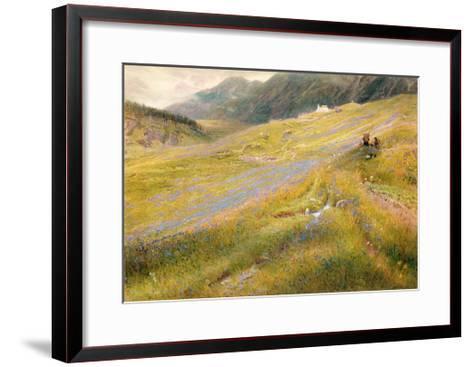 The Alpine Summer, 1874-Albert Goodwin-Framed Art Print