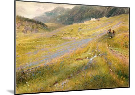 The Alpine Summer, 1874-Albert Goodwin-Mounted Giclee Print