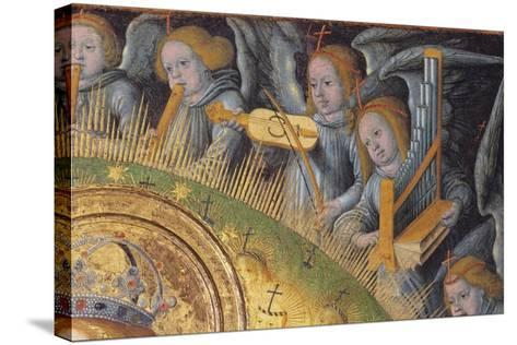 Detail of the Heavenly Choir, from Madonna and Child-Hans Fries-Stretched Canvas Print