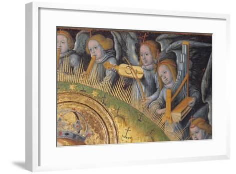 Detail of the Heavenly Choir, from Madonna and Child-Hans Fries-Framed Art Print