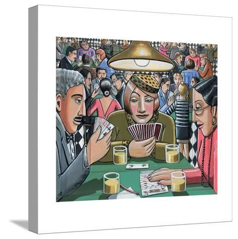 Bridge Players, 2009-P.J. Crook-Stretched Canvas Print