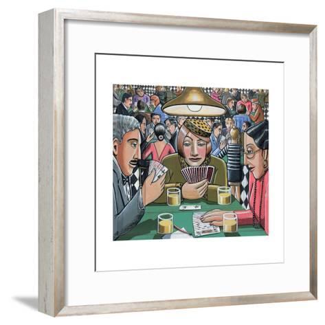 Bridge Players, 2009-P.J. Crook-Framed Art Print