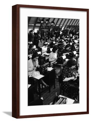 Typists Working, Italy, 1938-Armando Bruni-Framed Art Print
