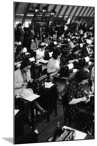 Typists Working, Italy, 1938-Armando Bruni-Mounted Giclee Print