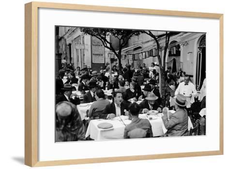 Outdoor Trattoria in Rome, c.1927-Armando Bruni-Framed Art Print