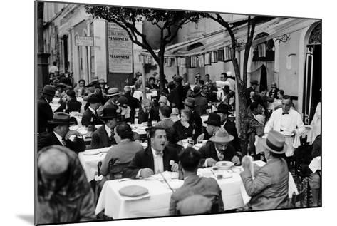 Outdoor Trattoria in Rome, c.1927-Armando Bruni-Mounted Giclee Print