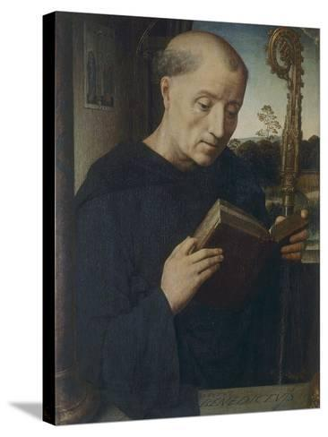 St. Benedict, 1487-Hans Memling-Stretched Canvas Print