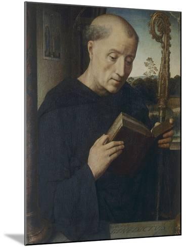 St. Benedict, 1487-Hans Memling-Mounted Giclee Print