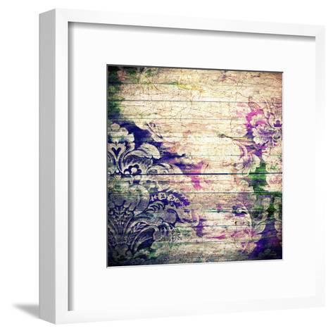 Abstract Old Background With Grunge Texture-iulias-Framed Art Print