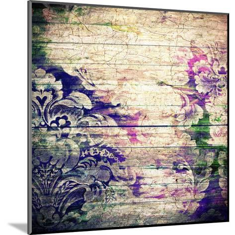 Abstract Old Background With Grunge Texture-iulias-Mounted Art Print