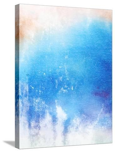 Abstract Textured Background: Blue And White Patterns-iulias-Stretched Canvas Print