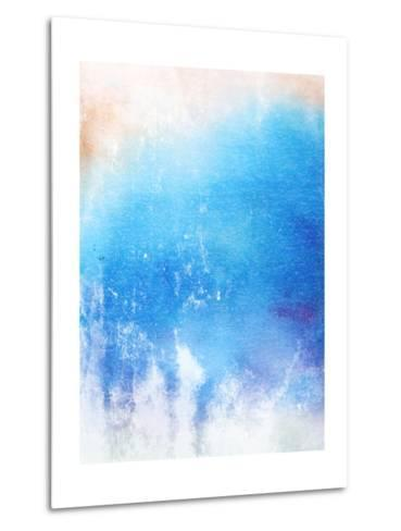 Abstract Textured Background: Blue And White Patterns-iulias-Metal Print