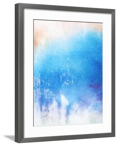 Abstract Textured Background: Blue And White Patterns-iulias-Framed Art Print