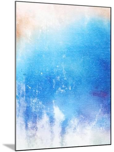Abstract Textured Background: Blue And White Patterns-iulias-Mounted Art Print