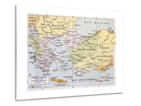 Aegean Region In 13Th Century Old Map-marzolino-Metal Print