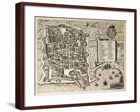 Antique Map Of Palermo, The Main Town In Sicily-marzolino-Framed Art Print