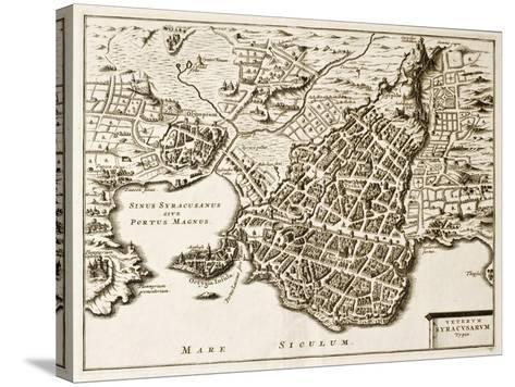 Antique Map Of Syracuse, Sicily-marzolino-Stretched Canvas Print