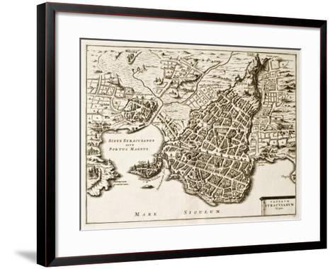 Antique Map Of Syracuse, Sicily-marzolino-Framed Art Print