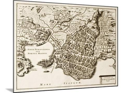 Antique Map Of Syracuse, Sicily-marzolino-Mounted Art Print