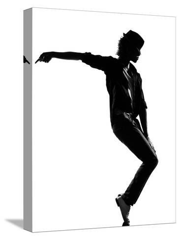 Full Length Silhouette Of A Young Man Dancer Dancing Funky Hip Hop R And B-OSTILL-Stretched Canvas Print