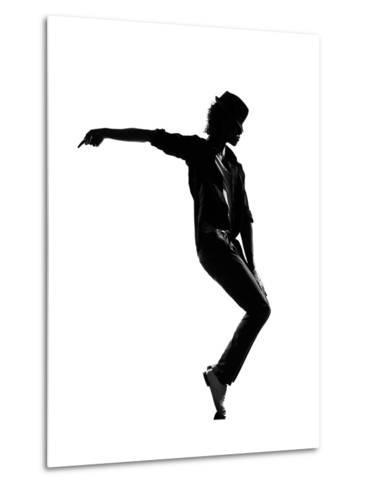 Full Length Silhouette Of A Young Man Dancer Dancing Funky Hip Hop R And B-OSTILL-Metal Print
