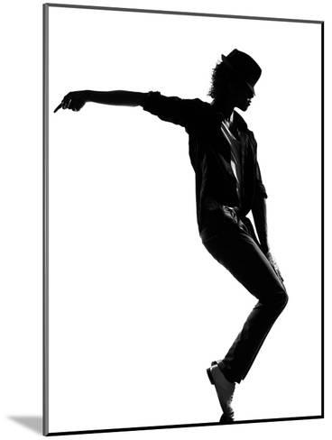 Full Length Silhouette Of A Young Man Dancer Dancing Funky Hip Hop R And B-OSTILL-Mounted Art Print