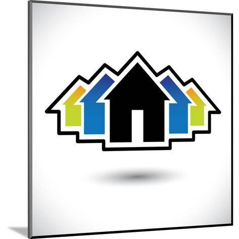House (Home) And Residence Sign For Real Estate-smarnad-Mounted Art Print
