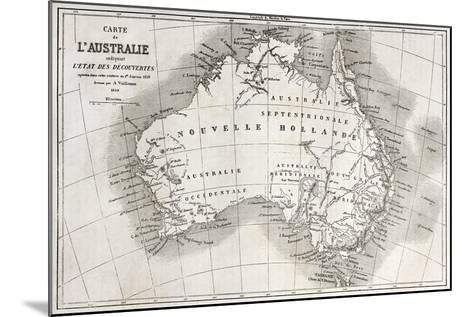 Australia Old Map-marzolino-Mounted Art Print