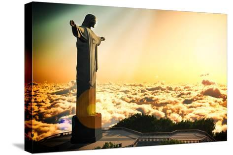 Famous Statue Of The Christ The Reedemer, In Rio De Janeiro, Brazil-Satori1312-Stretched Canvas Print