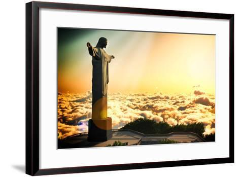 Famous Statue Of The Christ The Reedemer, In Rio De Janeiro, Brazil-Satori1312-Framed Art Print