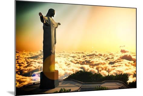 Famous Statue Of The Christ The Reedemer, In Rio De Janeiro, Brazil-Satori1312-Mounted Art Print