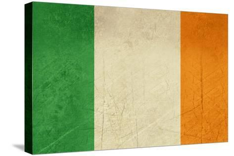 Grunge Officall Flag Of The Irish Tricolor, Republic Of Ireland-Speedfighter-Stretched Canvas Print