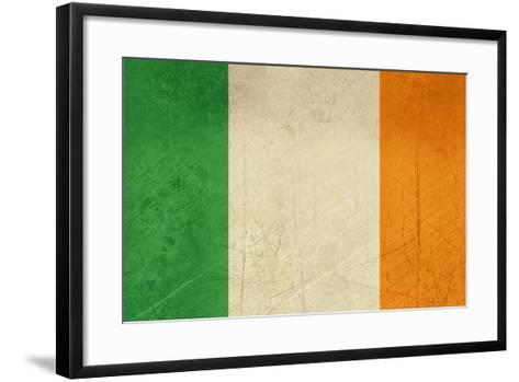 Grunge Officall Flag Of The Irish Tricolor, Republic Of Ireland-Speedfighter-Framed Art Print