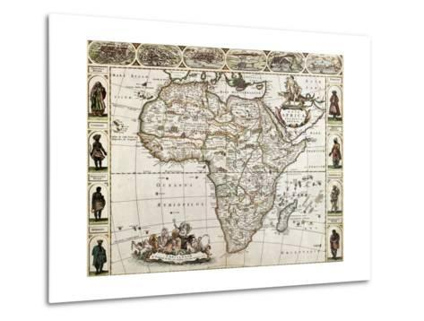 Africa Old Map. Created By Frederick De Wit, Published In Amsterdam, 1660-marzolino-Metal Print