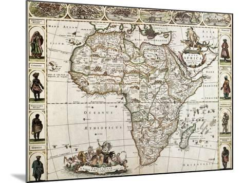 Africa Old Map. Created By Frederick De Wit, Published In Amsterdam, 1660-marzolino-Mounted Art Print