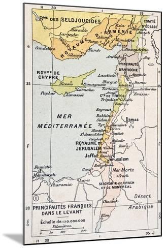 Medieval Eastern Mediterranean Old Map-marzolino-Mounted Art Print