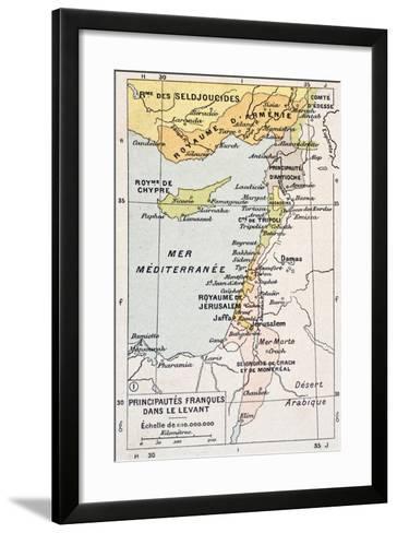 Medieval Eastern Mediterranean Old Map-marzolino-Framed Art Print