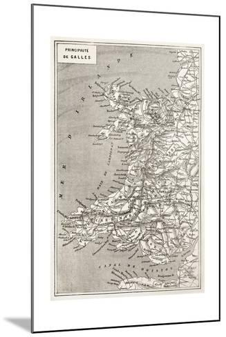 Wales Old Map. Created By Erhard And Duguay-Trouin, Published On Le Tour Du Monde, Paris, 1867-marzolino-Mounted Art Print