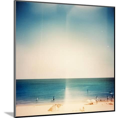 Retro Medium Format Photo. Sunny Day On The Beach. Grain, Blur Added As Vintage Effect-donatas1205-Mounted Art Print