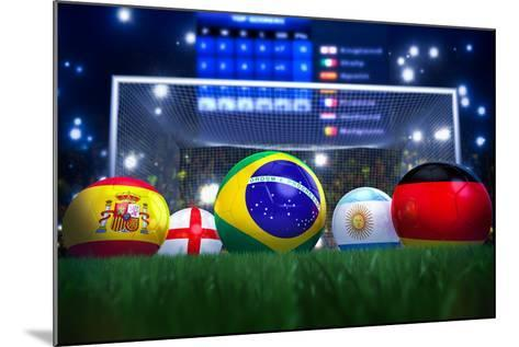 3D Rendering Of Footballs In The Year 2014 In A Football Stadium-coward_lion-Mounted Art Print