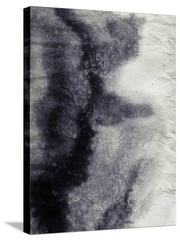 Abstract Black And White Ink Painting On Grunge Paper Texture - Artistic Stylish Background-run4it-Stretched Canvas Print