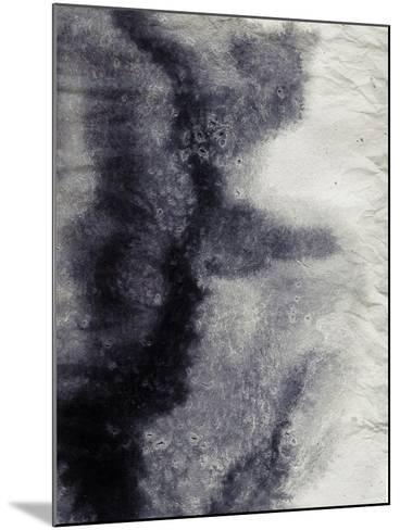 Abstract Black And White Ink Painting On Grunge Paper Texture - Artistic Stylish Background-run4it-Mounted Art Print