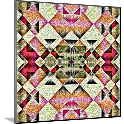 Native American Traditional Decorative Tribal Pattern Design Background-kgtoh-Mounted Art Print