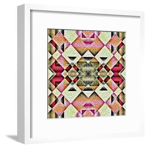 Native American Traditional Decorative Tribal Pattern Design Background-kgtoh-Framed Art Print
