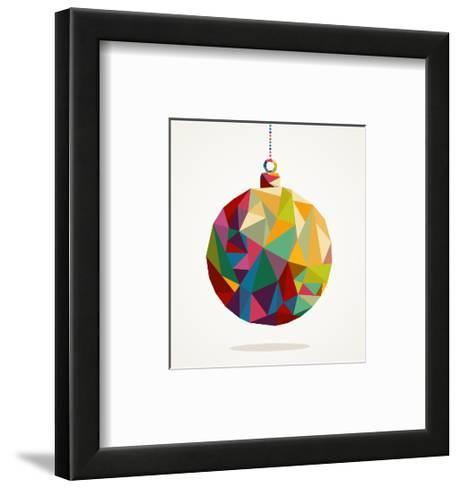 Geometric Christmas Ornament-cienpies-Framed Art Print