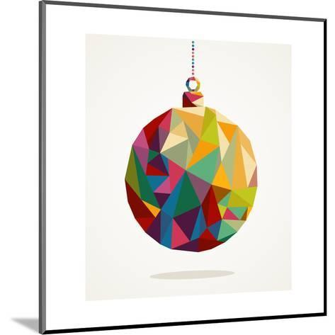 Geometric Christmas Ornament-cienpies-Mounted Art Print