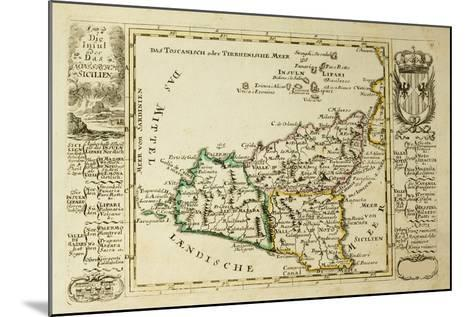 Sicily Old Map, May Be Dated To The Beginning Of The Xviii Sec-marzolino-Mounted Art Print