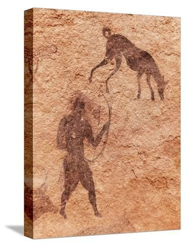Famous Prehistoric Rock Paintings Of Tassili N'Ajjer, Algeria-DmitryP-Stretched Canvas Print