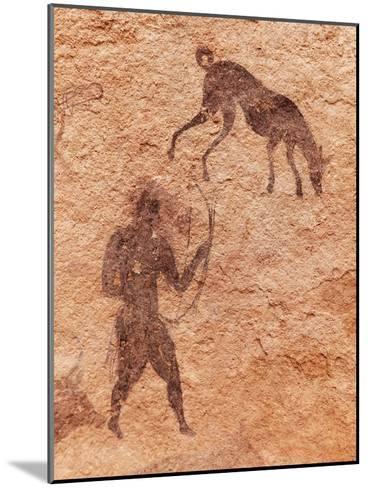 Famous Prehistoric Rock Paintings Of Tassili N'Ajjer, Algeria-DmitryP-Mounted Art Print